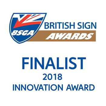 British Sign Awards 2018 Innovation Award Finalist