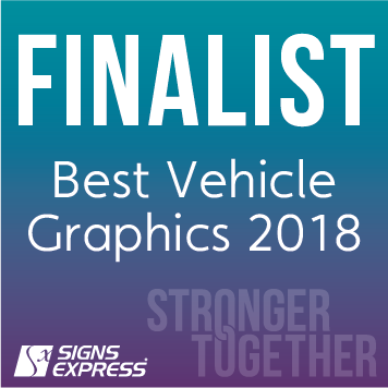 Signs Express Best Vehicle Graphics Finalist 2018