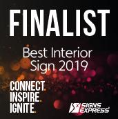 Signs Express Best Interior Sign Finalist 2019
