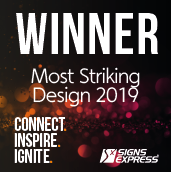 Signs Express Most Striking Design Winner 2019