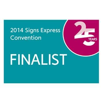 Signs Express Convention Award Finalist 2014