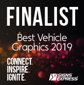 Signs Express Best Vehicle Graphics Finalist 2019