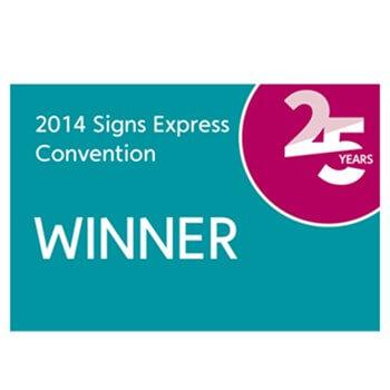 Signs Express Convention Award Winner 2014