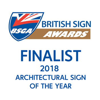 British Sign Awards 2018 Architecture Sign Of The Year Award Finalist