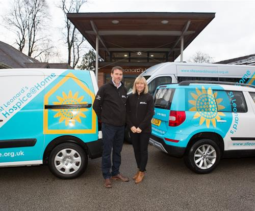 Vehicle Livery for St Leonards Hospice