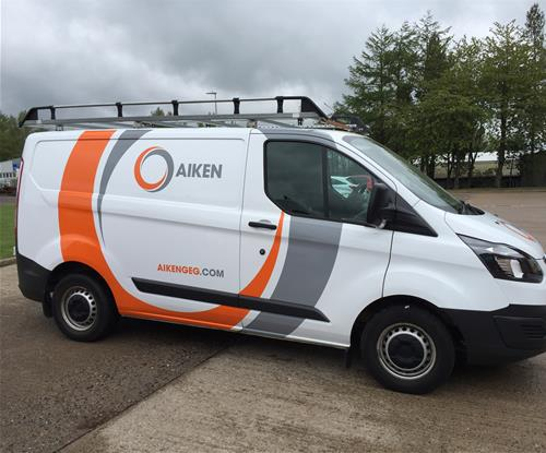 Van graphics for Aiken Group