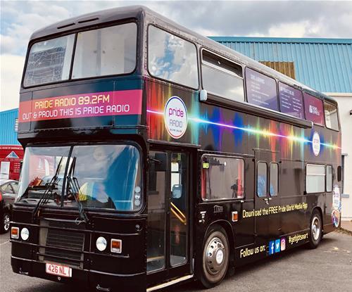 Pride Radio bus graphics