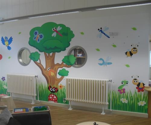 Bespoke Wallpaper For Children's Centre