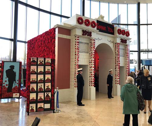 Remembrance Memorial by Signs Express Central Lancashire for Blackpool Teaching Hospitals NHS Foundation Trust