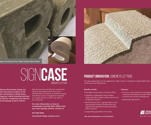 Manchester SignCase - concrete letter innovations