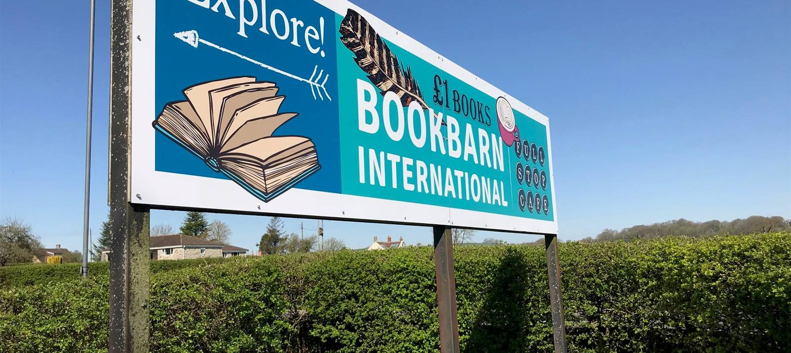 Bookbarn International Roadside Outdoor sign