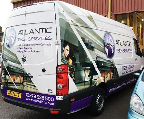 VW Crafter wrapped using 3M film.