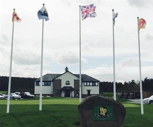 Flags rock main signage