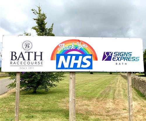 Signs Express Bath - Thank you to the NHS banner