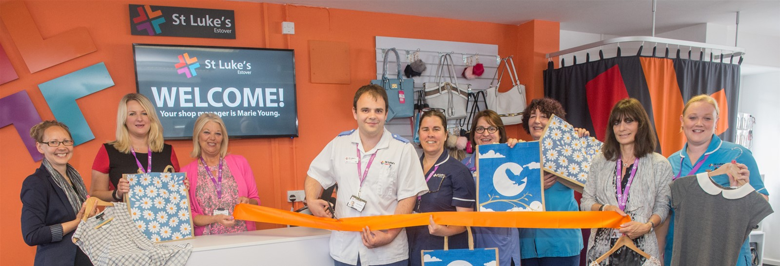Signs Express Plymouth re-brand St Luke's Hospice Plymouth Charity Shops