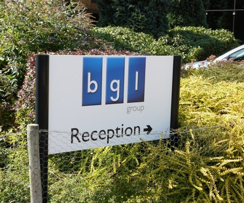 Panel and post reception sign