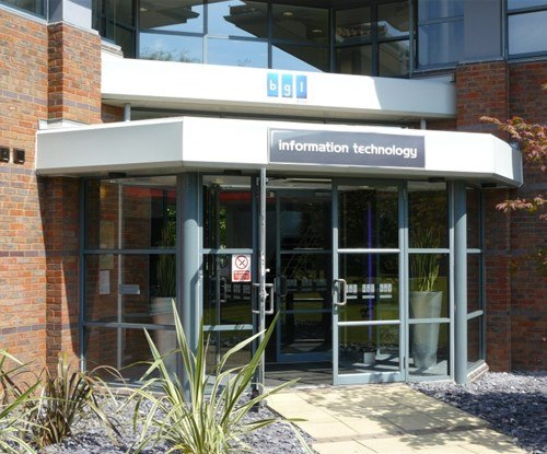 Exterior fascia reception sign