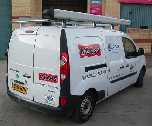 Local authority and Mears branding on a fleet van