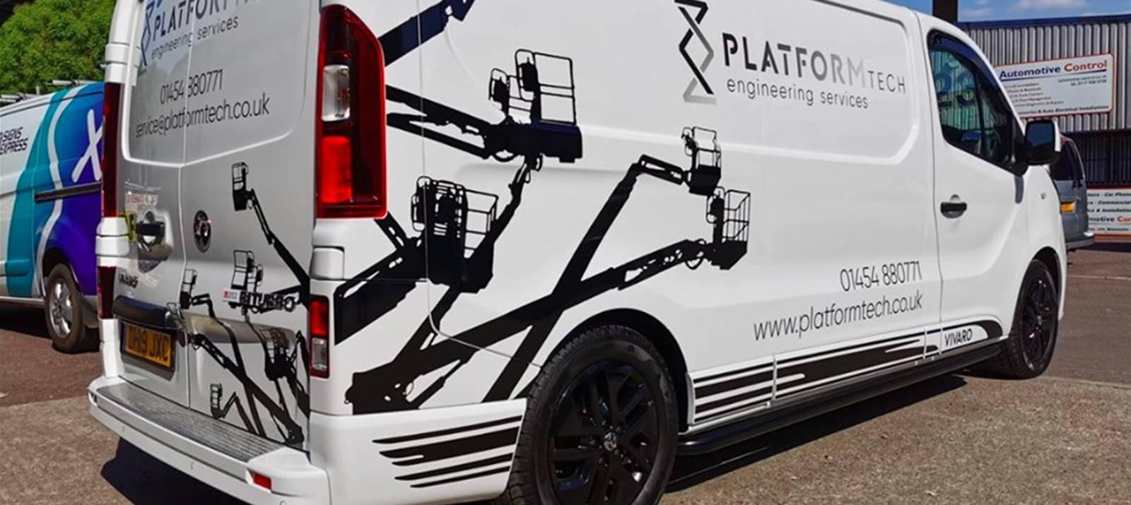 Vehicle graphics for Platformtech Engineering