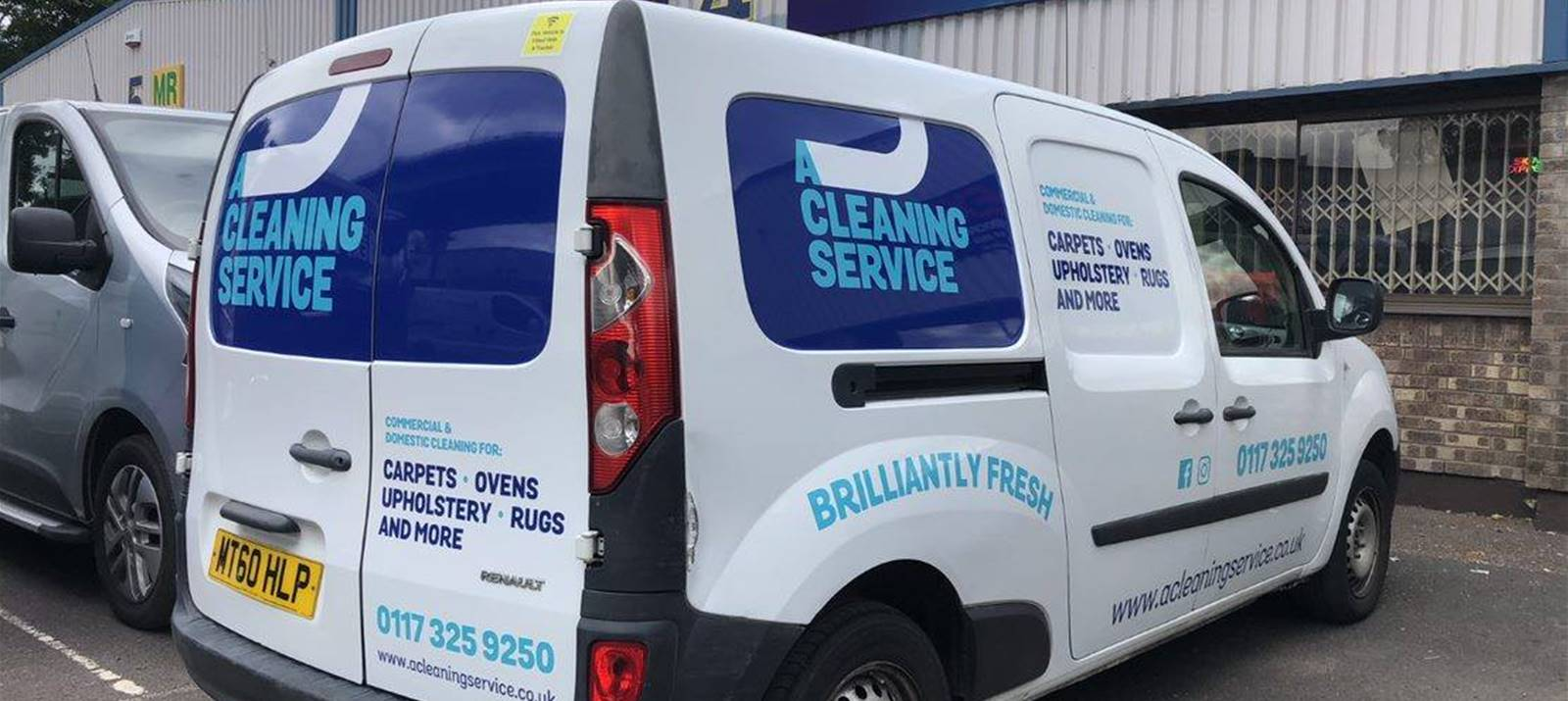 A Cleaning Service Van Wrap
