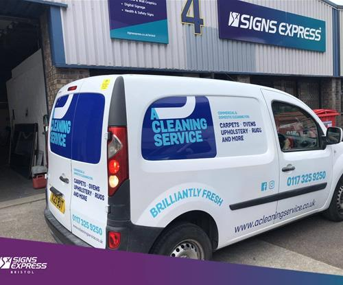 Van Signage Vehicle Wrapping for A Cleaning Service Bristol
