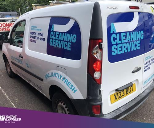 Vehicle Wrapping for A Cleaning Service