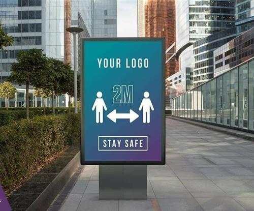 Social Distancing Shop Signage