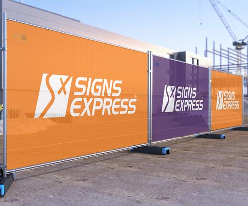 Mesh fence covers from Signs Express Leeds