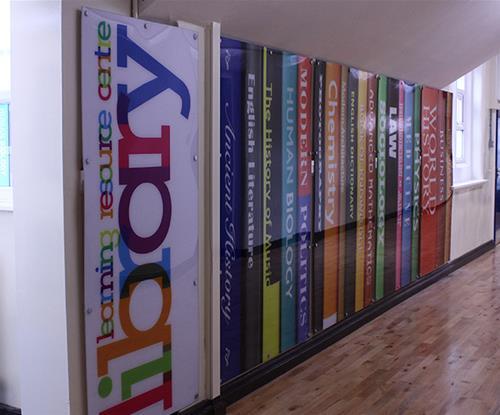 Moor Park High School Corridor Signs Library