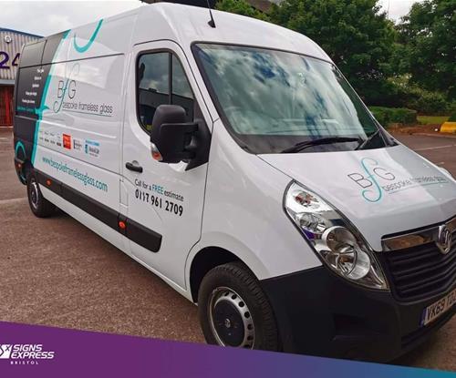 Bristol vehicle wrapping for Bespoke Frameless Glass
