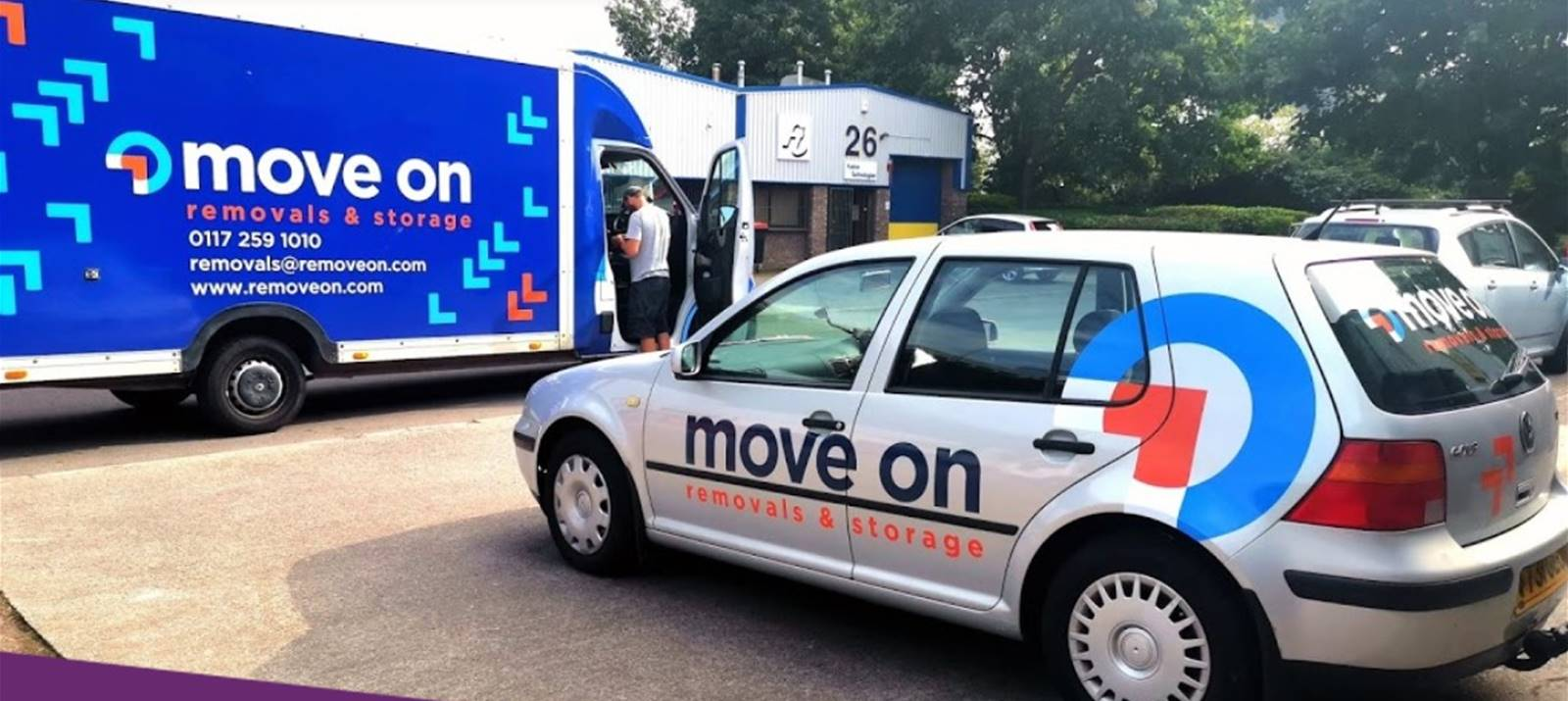 Car wrapping for Move On Removals