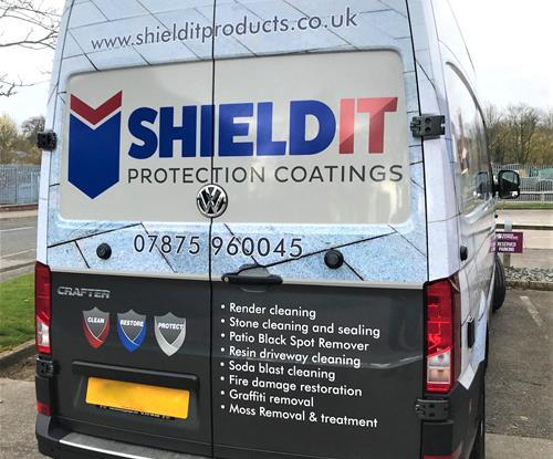 Pro Shield It, cut laminated vinyl van wrap