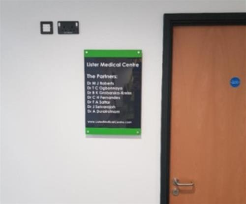 Acrylic Doctor Directory Sign