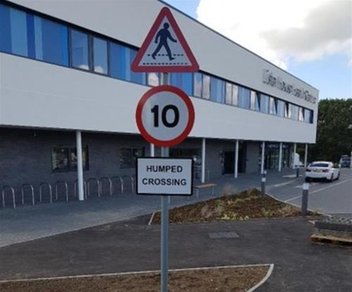 Road traffic signs within Lister House premises