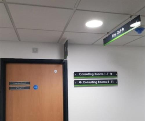Consulting Room door signs and wayfinding signage