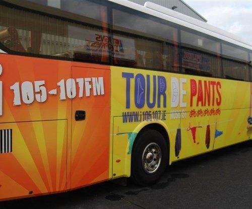 Tour de Pants support bus