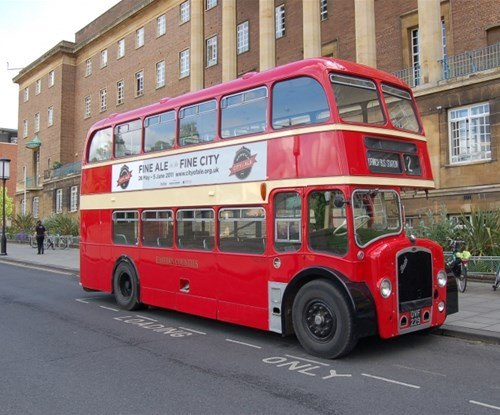 The City of Ale festival bus hits the streets of Norwich