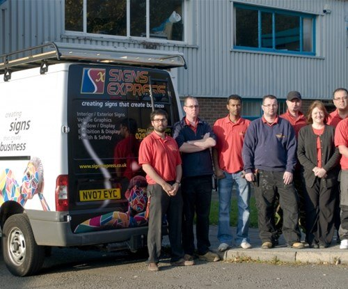 The Signs Express (Cardiff) team