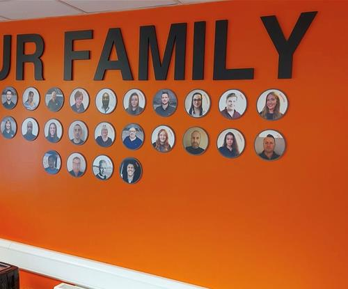 Our Family Wallpaper with Cut Foam PVC