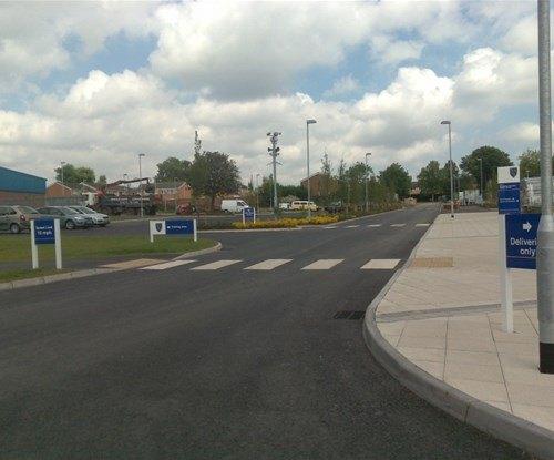 Archbishop Grimshaw Catholic School panel and post car park signs