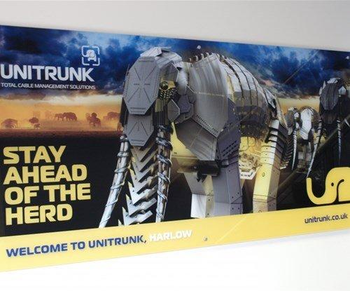 Unitruck acrylic panel sign