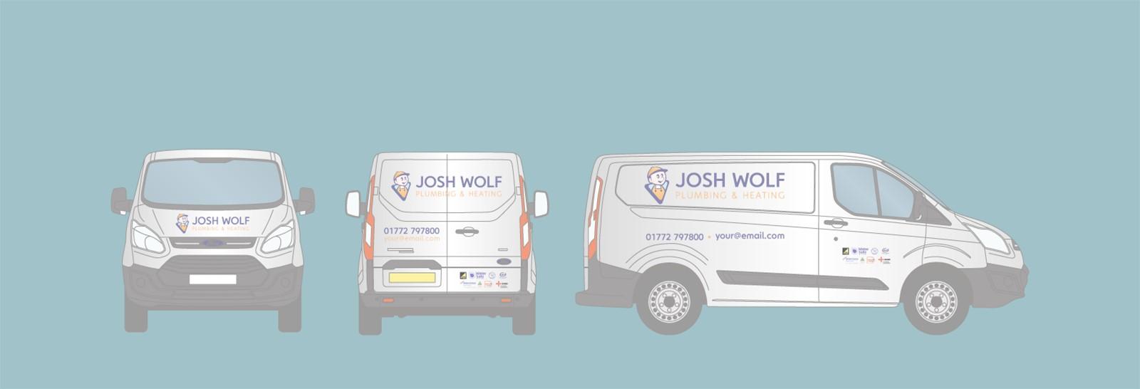 Van graphics from Signs Express Preston