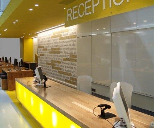 Anglia Ruskin University reception sign