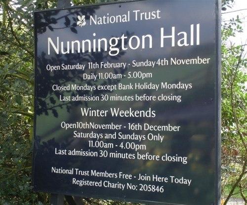 Signs Express York  - Nunnington Hall - Exterior Sign