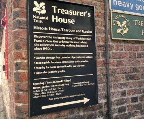 Information Sign for Treasurer's House York