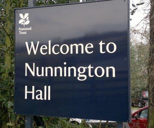 Welcome Sign Nunnington Hall