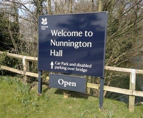 Welcome & Open Sign Nunnington Hall
