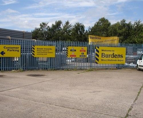 Burdens' panel signs