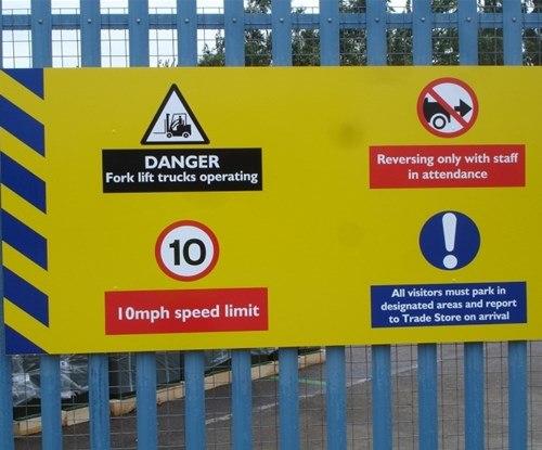 Burdens' panel health & safety signs
