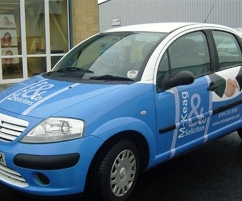 McKeag & Co Solicitors Digitally printed vehicle wrap